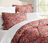 Bridget Printed Comforter, Twin, Pink Multi