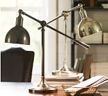 Cole Task Table Lamp, Antique Silver Finish