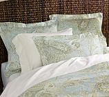 Sienna Paisley Duvet Cover, Twin, Porcelain Blue