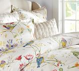 Painterly Bird Duvet Cover, Twin, Multicolor