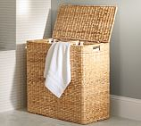 Perry Divided Hamper with Liners, Savannah Weave