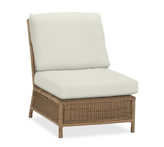 Saybrook All-Weather Wicker Armless Chair, Natural
