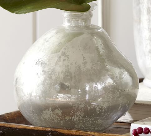 Milky Mercury Glass Vase, Small