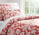 Robyn Palampore Organic Cotton Duvet Cover, Twin, Coral