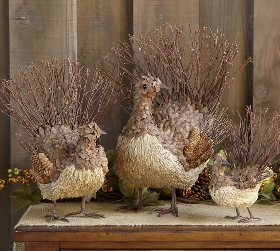 Harvest Twig & Pinecone Turkey, Medium