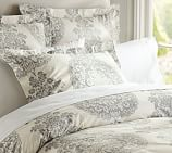 Lucianna Medallion Duvet Cover, Twin, Gray