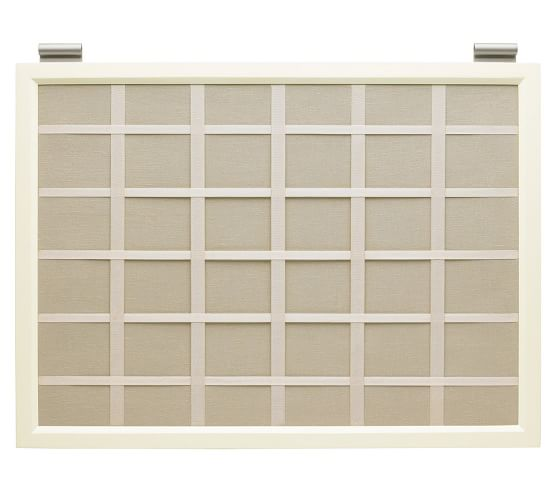 Linen Pinboard, White