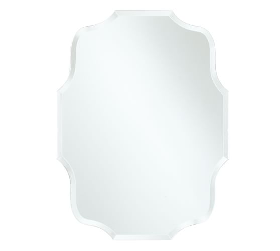 "Eleanor Frameless Mirror, Rectangular, Small, 15 x 20"""