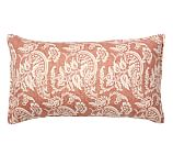 Alessandra Floral Reversible Sham, King, Red