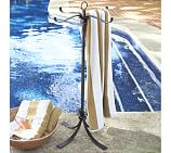 Bronze Finish Pool Towel Valet