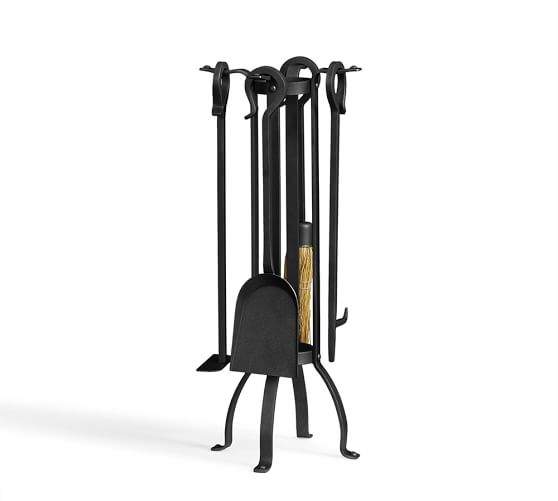 Industrial Fireplace Small Tool Set Pottery Barn