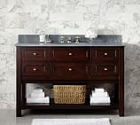 Classic Single Wide Sink Console Base only, Espresso Finish