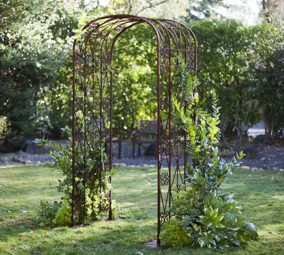 Iron Gate Arch & Trellis Set