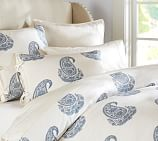 Rayna Paisley Duvet Cover, Twin, Blue Opal