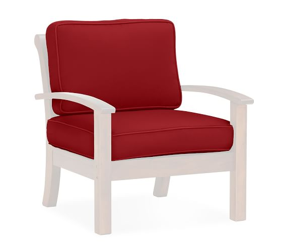 Chatham Armchair Replacement Cushion Set Set, Outdoor Canvas, Cherry Red