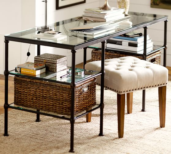 Blair Iron & Glass Desk