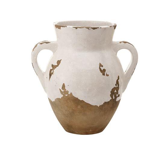 Tuscan Terra Cotta Vase, Medium Double-Handled Urn