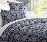 Calista Floral Duvet Cover, Twin, Blue