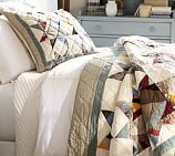 Multi-Star Patchwork Voile Quilted Sham, Standard, Multicolor