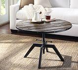 Blaine Reclaimed Wood Adjustable Round Coffee Table