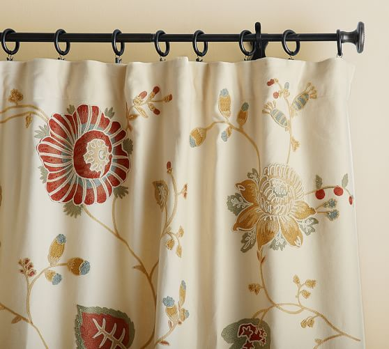 Margaritte Embroidered Drape, 50 x 63