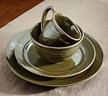 Cambria Dinnerware, 16-Piece Soup Bowl Set, Olive