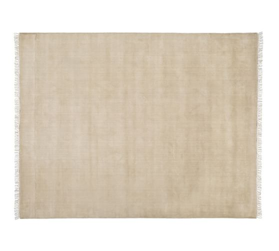 Fringed Hand-Loomed Wool Rug, 5x8', Heathered Taupe