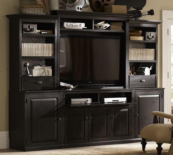 Leighton Media Suite, Artisanal Black stain