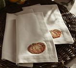 Pumpkin Embroidered Dinner Napkin, 22
