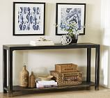 Helena Console Table, Weathered Black finish
