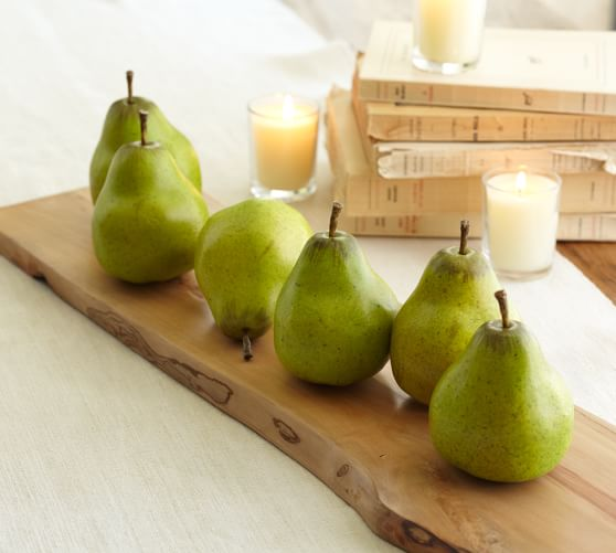 Green Pear Vase Filler, Set of 6