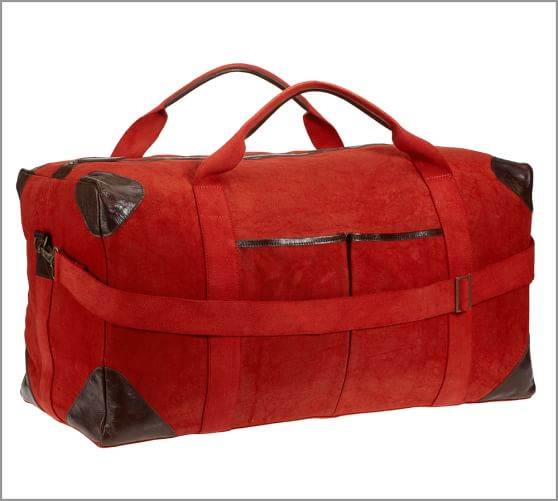 Union Recycled Canvas Large Weekender Bag, Red