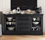 Tucker Wood Cabinet Buffet, Black