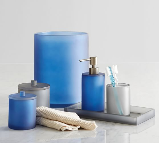 serra mix and match bath accessories gray pottery barn On matching bath sets