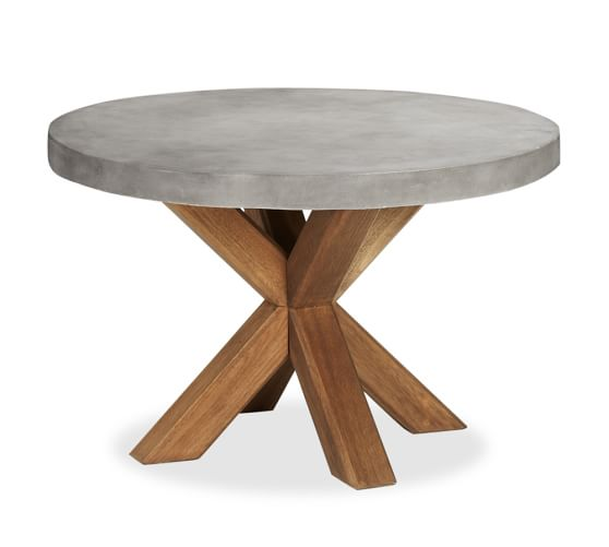 Abbott Round Dining Table Pottery Barn