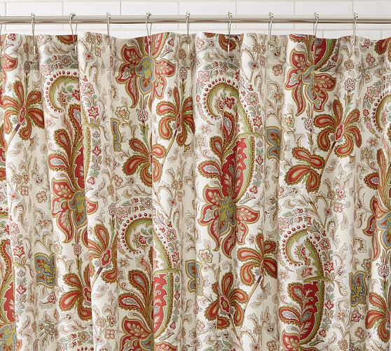 Charlie Paisley Organic Shower Curtain Pottery Barn