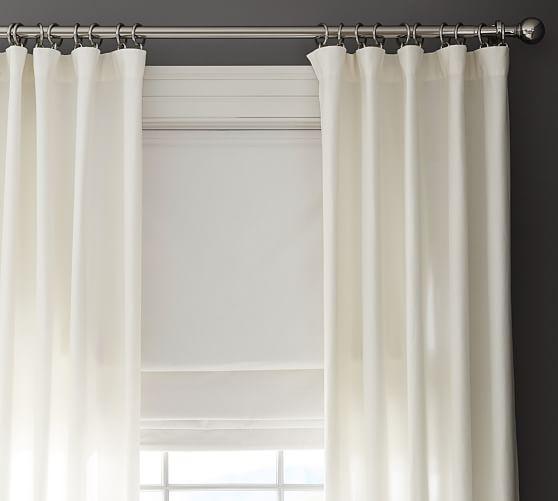 emery linen cotton cordless roman shade pottery barn. Black Bedroom Furniture Sets. Home Design Ideas