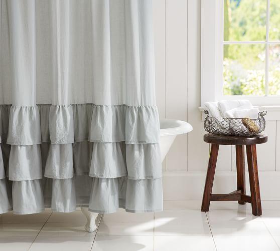 Ruffle Shower Curtain Pottery Barn