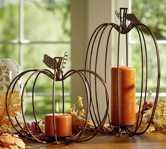 Wire Pumpkin Candleholders Pottery Barn