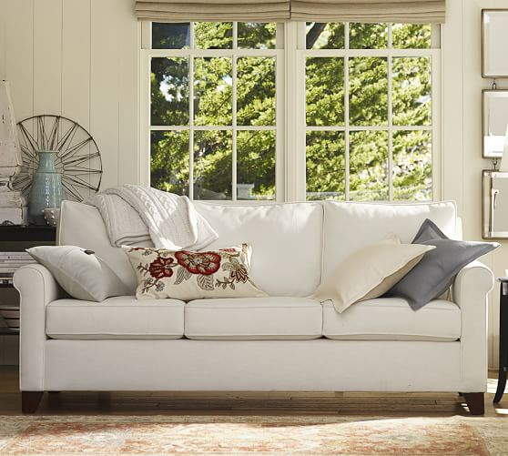 cameron pottery barn sofa review 3