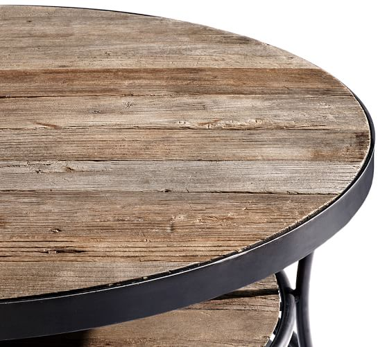 Wood Side Table : Bartlett Reclaimed Wood Metal Side Table  Pottery Barn