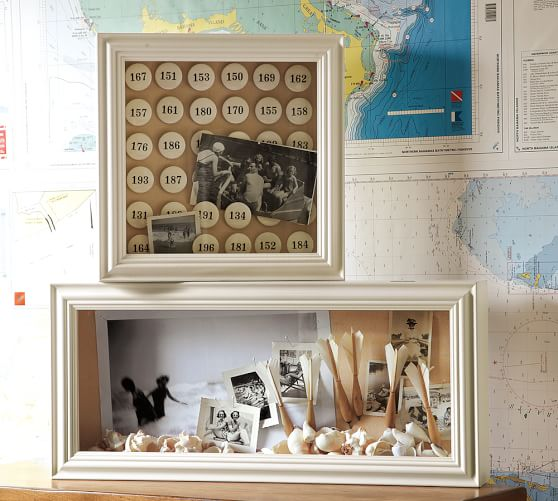Shadowbox With Linen Pottery Barn