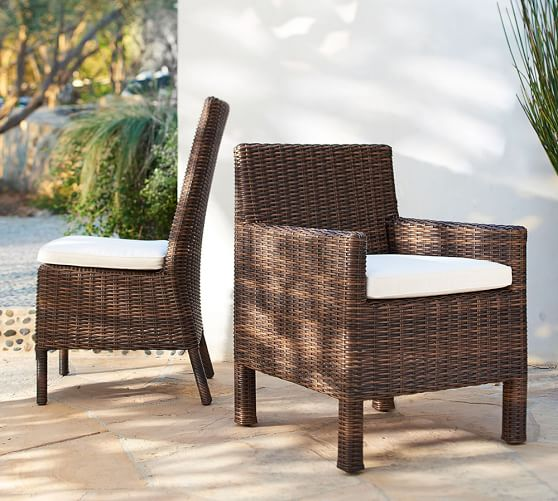 torrey all weather wicker dining chair espresso pottery barn. Black Bedroom Furniture Sets. Home Design Ideas