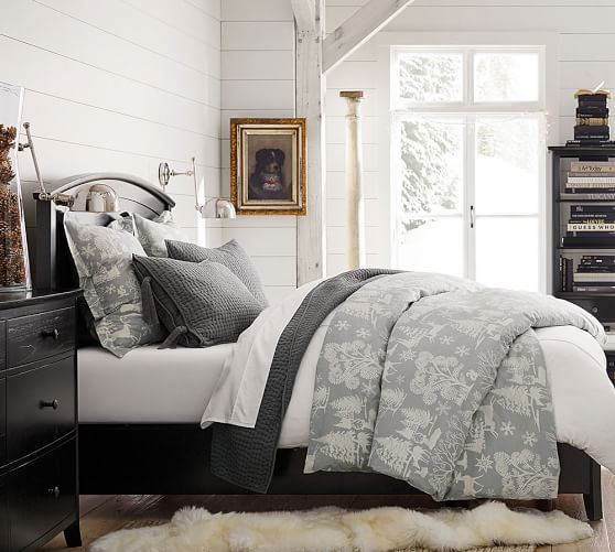 Frosted Forest Duvet Cover amp Sham Pottery Barn