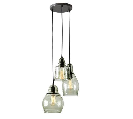 Vintage Chrome White Glass Kitchen Ceiling Light Fixture