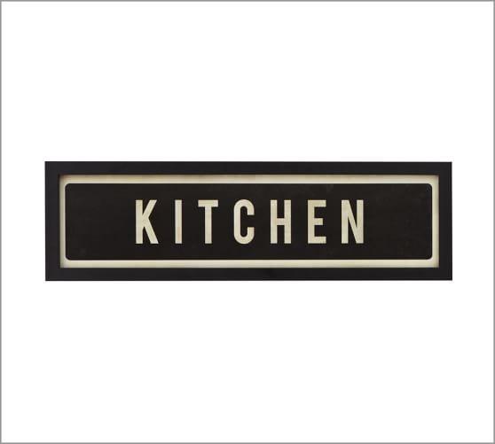 Framed Kitchen Sign Pottery Barn
