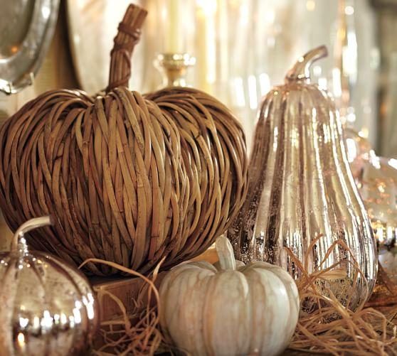 Pottery Barn Furniture Return Policy: Woven Rattan Pumpkin