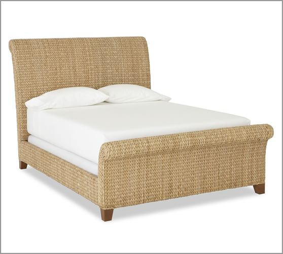 Seagrass Sleigh Bed King