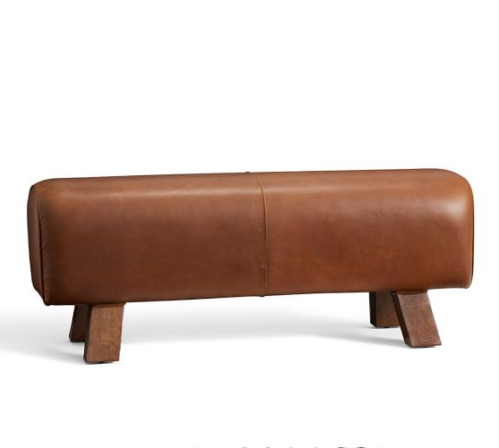 Ken Fulk Leather Pommel Bench Pottery Barn