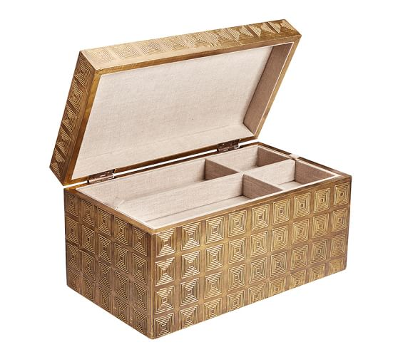 Aluminium Cladding Up Box : Metal clad jewelry box pottery barn